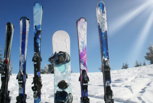 sprzęt narciarski i snowboardowy na Górce Szczęśliwickiej
